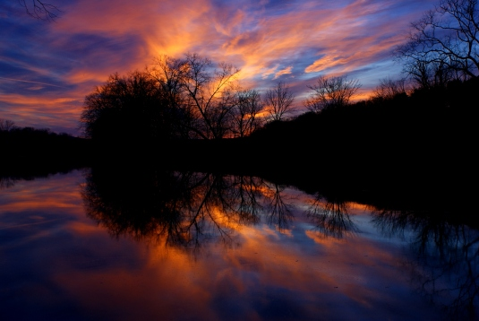 Shenandoah River on Fire by Ryan Wick