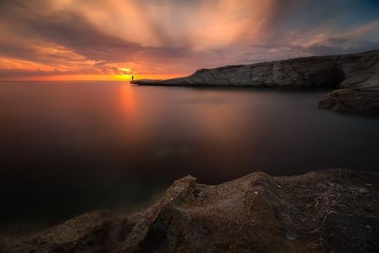 Alamanos Sunset by Tomasz Huczek
