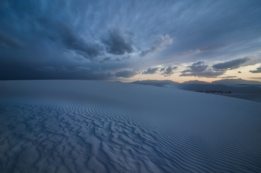 Blue Day at White Sands by Robert H Clark